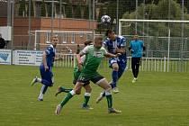 Fotbalisté Znojma (v modrém) remizovali v přípravném utkání proti Bzenci 2:2. Foto: 1. SC Znojmo/Milan Šoba