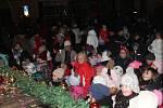 Silvestrovské oslavy ve Znojmě s ohňostrojem.