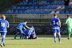 Fotbalisté Moravského Krumlova (v modrém), ilustrační foto