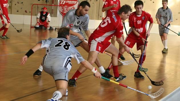 Florbalový zápas Znojmo - Hrabová