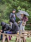 Devátý krumlovský Vrabčák přilákal pět stovek návštěvníků. Bavili se i přes odpolední déšť.