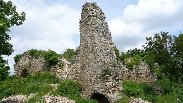 Zřícenina hradu Templštejn.