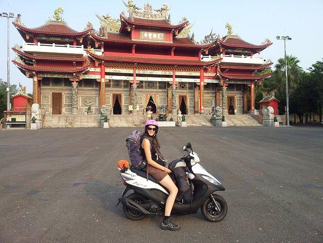 Budhistický chrám na Tchai-Wanu.