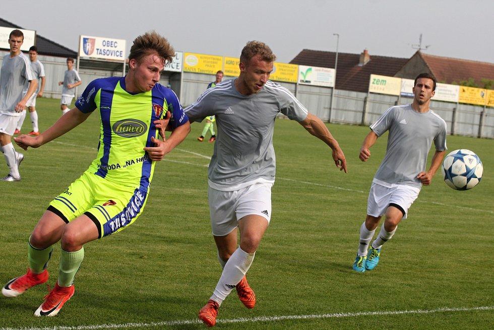 27. kolo Divize skupiny D mezi Tasovicemi a Břeclaví přineslo remízu 1:1.