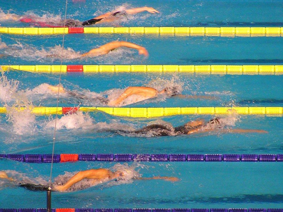 Květoslav Svoboda v čele startovního pole při mistrovství světa v Austrálii