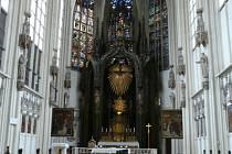 Kostel Maria am Gestade ve Vídni, kde odpočívají ostatky sv. Klementa Maria Hofbauera.