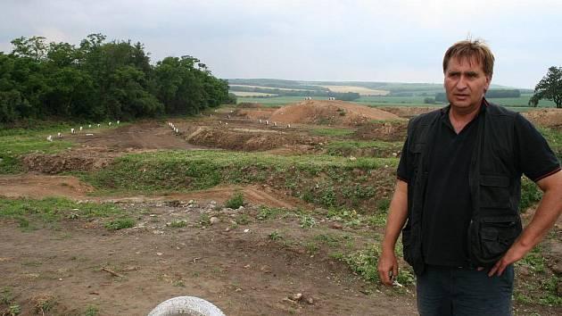 Nová motokrosová trať u Miroslavi