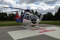 Nemocnice dokončila v uplynulých dnech novou přistávací plochu pro vrtulníky zdravotnické záchranné služby.