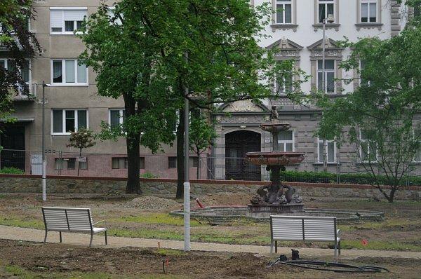 Nové prvky vopravovaném Dolním parku.