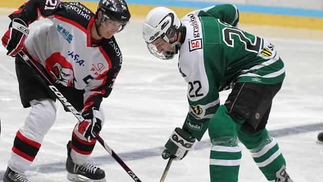 Znojemští hokejoví junioři (v černém) - ilustrační foto