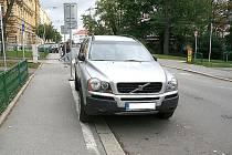 Luxusní terénní Volvo bývalého tajemníka znojemské radnice Vladimíra Krejčíře.