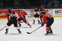 Znojemští Orli v neděli hostili na svém ledě ve své premiéře v hokejové Lize mistrů silný tým z Fribourgu-Gottéronu.