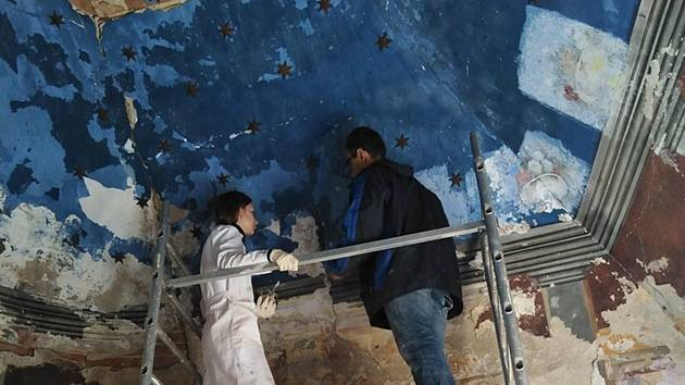 Odkryli původní malby v kapli v ulici Napajedla