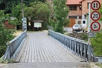 Most přes Dyji pod znojemskou přehradou. Ilustrační foto.
