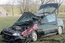 Patrně příliš vysoká rychlost stála za sobotní havárií Citroënu mezi Břežany a Litobratřicemi.