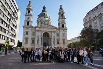 Studenti z Přímky v Budapešti. Foto: archiv školy
