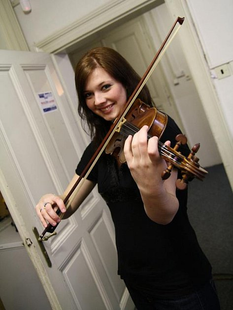 Monika Krčálová měla kariéru houslistky předurčenou.