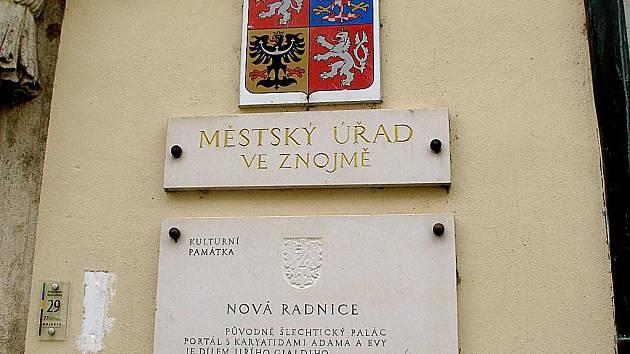 Městský úřad ve Znojmě. Ilustrační foto.