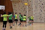 První výhru v letošní sezoně si připsali v sobotu korfbalisté Znojma. Na domácí půdě porazili České Budějovice 25:16.