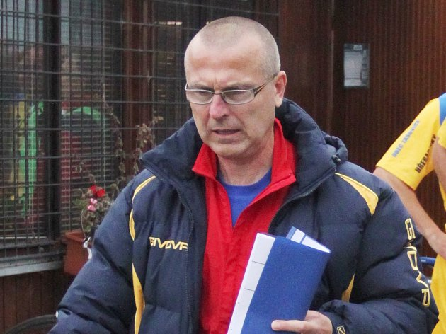 Kouč divizních Tasovic Miroslav Steinhauser.