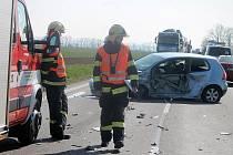 Nehoda u Znojma zastavila provoz na silnici ve směru k hraničnímu přechodu Hatě.