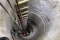 Záchrana člověka ve studni. Ilustrační foto