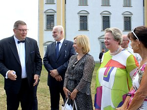 Lichtenštejnská návštěva: princeznu Maria Pia Moravský Krumlov okouzlil