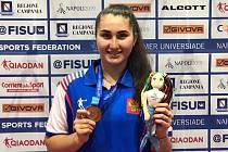 Stolní tenistka extraligových žen Moravského Krumlova Katya Chernyavskaya získala s ruskou reprezentací bronz na univerziádě v Neapoli.