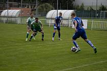 Fotbalisté Znojma (v modrém) prohráli v přípravném utkání S TáborEM 1:4. Foto: archiv 1. SC Znojmo