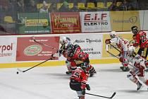 Hokejoví Orli porazili v dalším kole EBEL slavný Klagenfurt 4:2.
