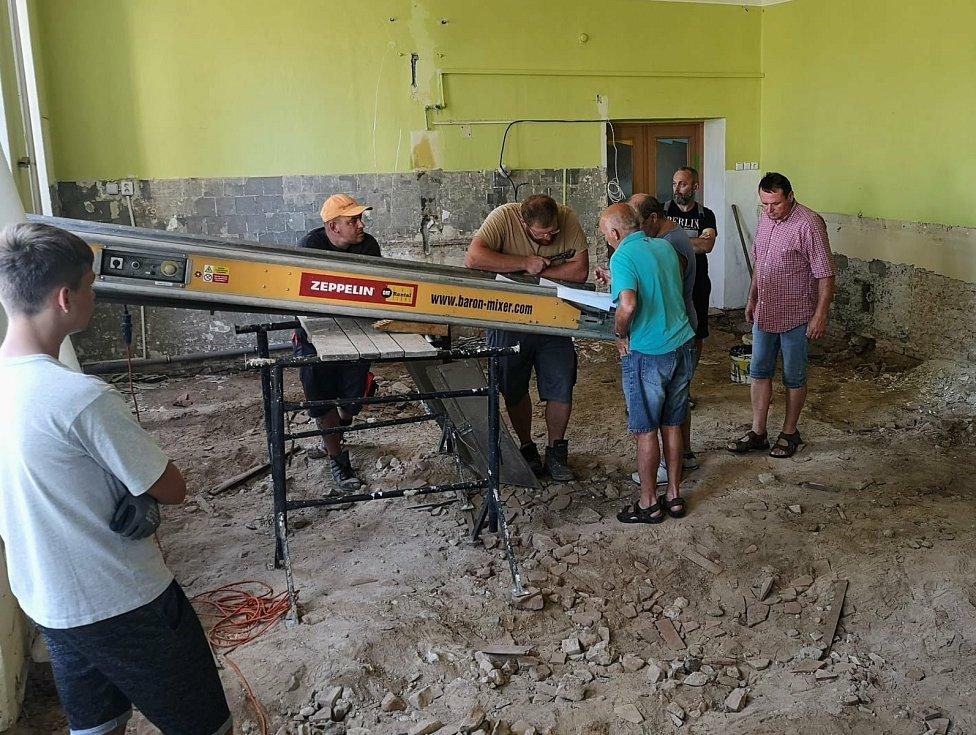 Višňové: rekonstrukce výdejny jídel v mateřské škole.