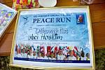 Zastávka Běhu míru v Hostimi.