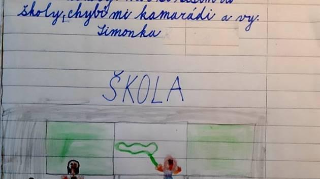 Dopis žačky učitelce. Repro: archiv Marcely Přibylové