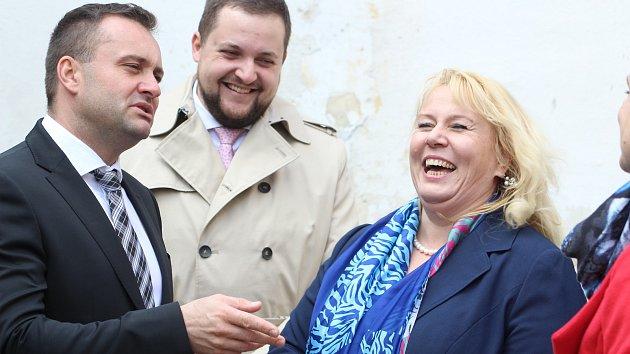 Ministryně navštívila Loucký klášter, podpořila revitalizace zchátralých budov