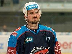 Hokejový útočník Nicolas Hlava ještě v dresu Chomutova.