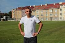 Fotbalový kouč Václav Dvořák trénuje divizní Tasovice. Jeho kádr vyhlíží restart soutěží.