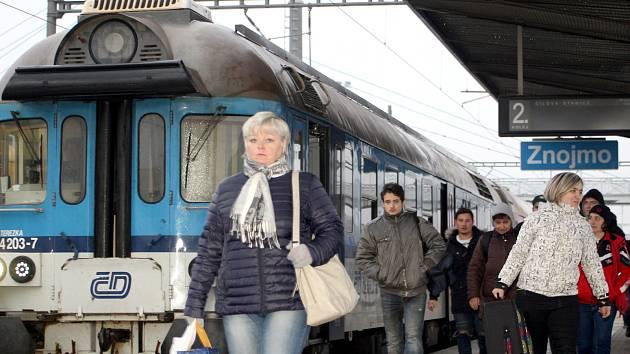 Železniční stanice Znojmo.