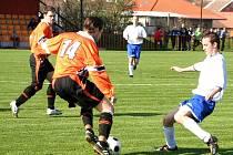 Fotbalisté Inzert Expresu Znojmo v utkání s Dobšicemi - ilustrační fotografie.