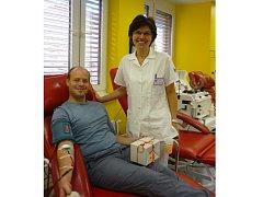 Po sté daroval krev také Pavel Šenekl ze Znojma.