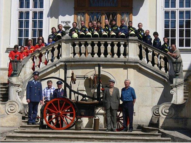 Vranovští dobrovolní hasiči.