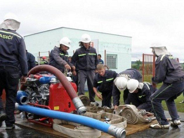 Přeskačské družstvo dobrovolných hasičů.