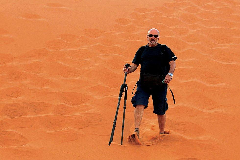 Cestovatel Jiří Kolbaba pobývá v exotických zemích většinu roku, letos si užil jižní Moravu.