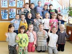 Žáci 1. A třídy ze Základní školy Hrušovany nad Jevišovkou. Třídní učitelkou je Hana Smutná.