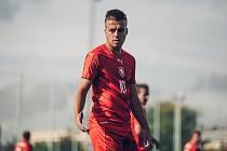 Fotbalista Adam Papoušek v října 2019 na přátelském utkání proti Německu, které se hrálo v Praze. Češi Němce překvapili a vyhráli 2:1.