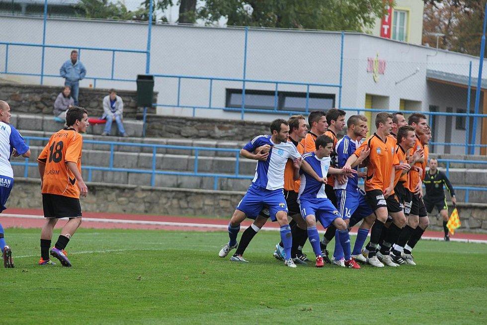 Znojemští fotbalisté prohráli ve 13. kole druhé ligy na vlastním trávníku 0:2.