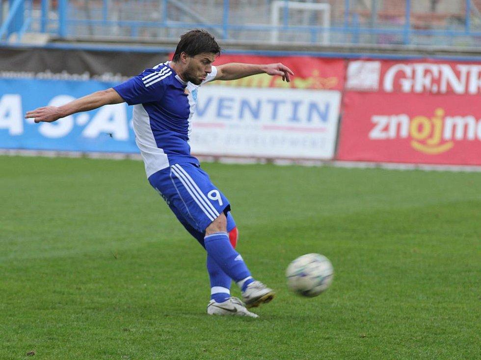 Fotbalista Milan Pacanda ještě v dresu Znojma.