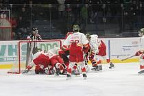 Znojemští hokejisté zdolali obhájce titulu z Bolzana 4:3 a jsou stále čtvrtí.