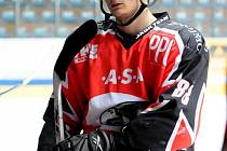 Znojemský hokejista Adam Havlík.