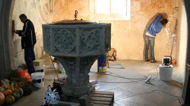 Rekonstrukce kaple v kostele sv. Mikuláše