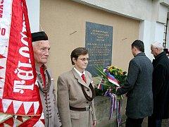 Připomínka událostí 17. listopadu ve Znojmě.